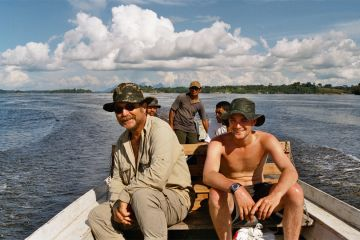 Peter Rohmer travelling on the Rio Negro
