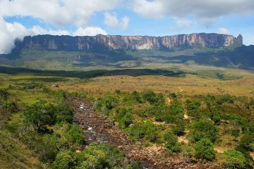 Mount Roraima seen from Rio Kukenan